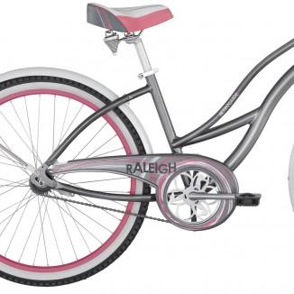 Raleigh Retroglide Grey/Pink